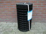 Tuingaas zwart geplastificeerd 080cm hoog, 50x50mm - 2,5mm dik