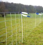 (16) Wolfnet Vario blauw 108cm hoog, 50m lang dubbele poot